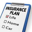 insurance plan clipboard