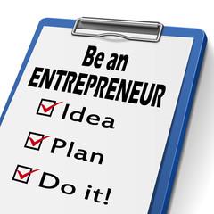 be an entrepreneur clipboard