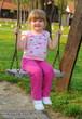 Swinging little girl