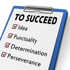 checklist for way to succeed