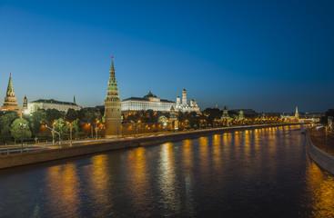 Город Москва Кремль ночью