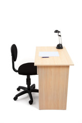 Student Desk and Chair with Clipping Path