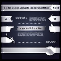 Silver Design Elements For Documentation Set5