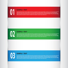 Vector banner template for creative work