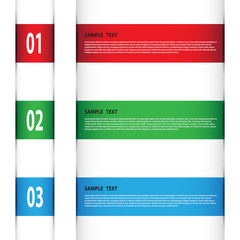Vector banner for creative work