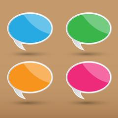 Vector bubble speech for creative work