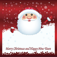Santa Claus showing card, vector