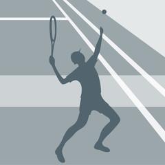 tennisman service