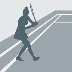 tenniswoman revers