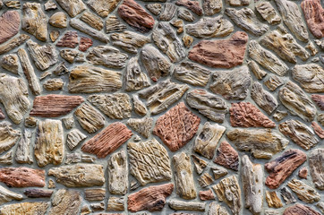 Colorful Stone Wall Background
