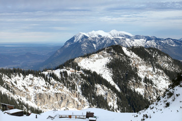 Classic Garmish ski resort in German Alps