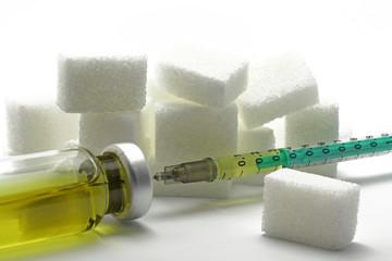 zucker mit spritze