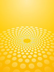 Abstract yellow background circles in perspective