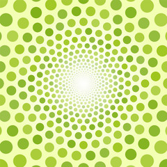 Abstract green background of small circles