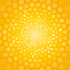 abstract yellow background made of small circles