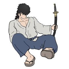Sitting samurai