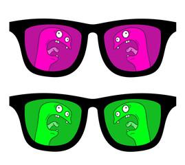Glasses puppet