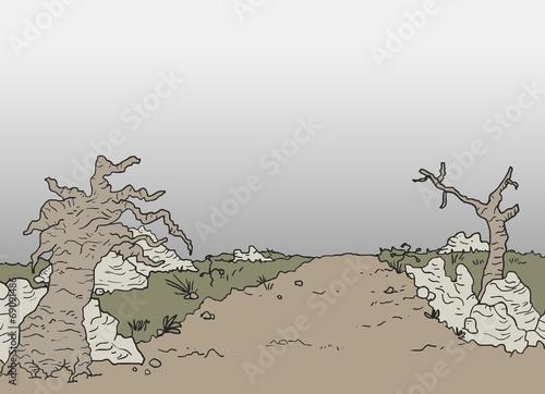 Desert scene - 69091486