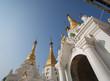 fairy and pagoda at Shwedagon pagoda