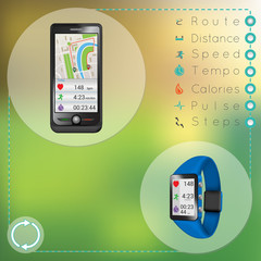 Smartphone and smart fitness watch