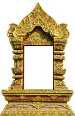 Thai window temple