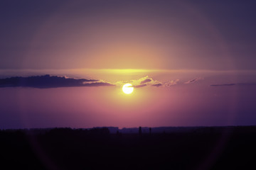 Beautiful mystical sunset