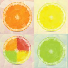 Polygonal fruit  Vector