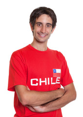 Lachender Fan aus Chile