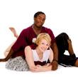 Interracial High School Cheer Couple
