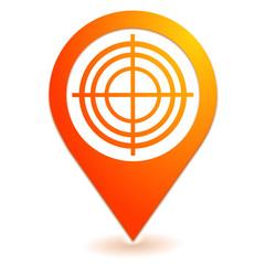 diagnostic sur symbole localisation orange