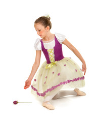 Ballerina Girl in Recital Costume