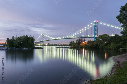 Plexiglas Brug Ambassador bridge Windsor ontario