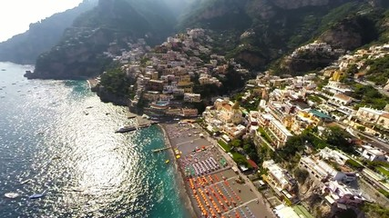 Positano aerial view