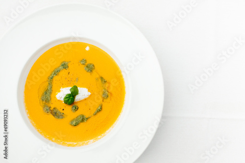 canvas print picture Kalte Tomatensuppe