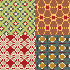 seamless retro geometric decorative pattern