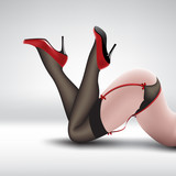 pin-up in stockings and shoes