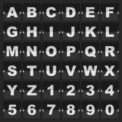 information alphabet and digits
