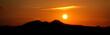 Nice sunrise over mountains