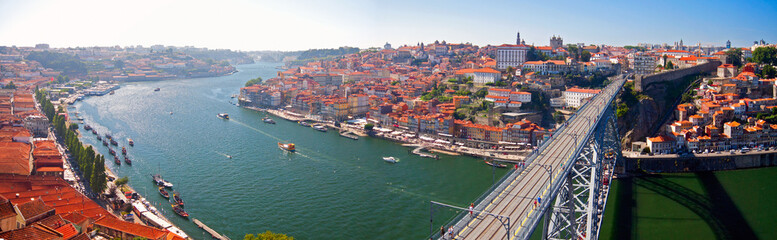 Waters of Douro river passing through Porto, Portugal.