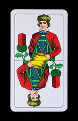 Spielkarte -Unter Eichel