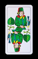 Spielkarte -Unter Grün