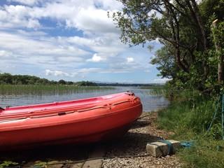 lifeboats at lake