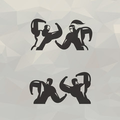 Fighters icons. Vector format