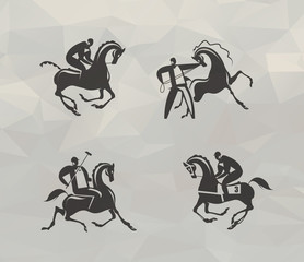 Horse icons. Vector format