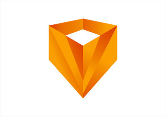 protector cube logo vector
