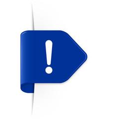 Exclamation sign - Azurblauer Sticker Pfeil mit Schatten