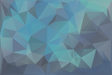 Blue Triangle Background With Polygons