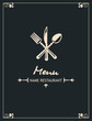 menu design with fork, spoon and knife - 69095484