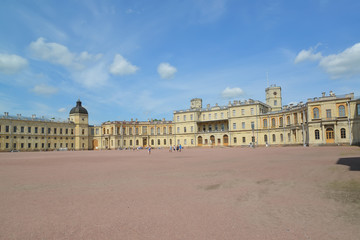 View of the southern facade of the Big Gatchina palace