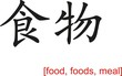 Chinese Sign for food, foods, meal